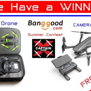WINNER of the Banggood Summer Drone Giveaway Contest