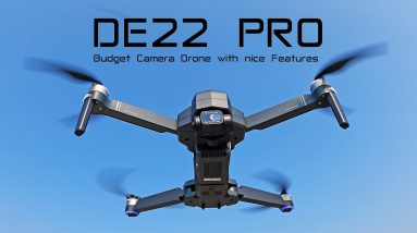 The DE22PRO Camera Drone has some nice features - Review